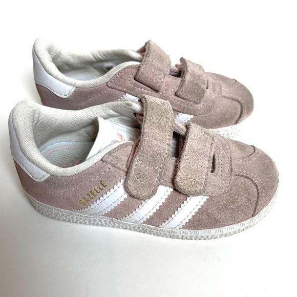 Adidas Gazelle Baby Pink White Shoe 7k